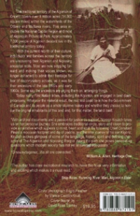 back cover of Ancestors are Arranging Things, The