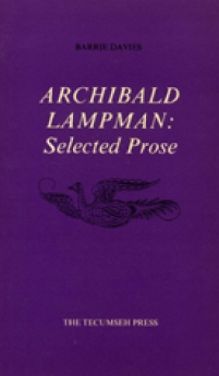 Archibald Lampman, selected Prose of