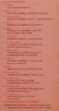 back cover of Louis Dudek, Selected Essays and Criticism